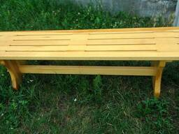 Лавки, скамейки деревянные уличные - фото 2