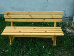 Лавки, скамейки деревянные уличные - фото 3