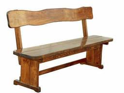 Лавка деревянная для дачи, сада, кафе, ресторана 1300*370. ..