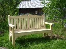 Лавочки деревянные. Беседки и садовая мебель.