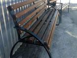Лавочки, скамейки уличные (металл дерево), 2000х500. .. - фото 2