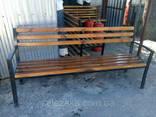 Лавочки, скамейки уличные (металл дерево), 2000х500. .. - фото 5