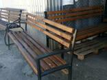 Лавочки, скамейки уличные (металл дерево), 2000х500. .. - фото 6