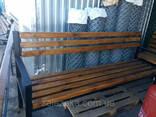 Лавочки, скамейки уличные (металл дерево), 2000х500. .. - фото 7