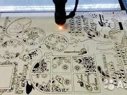 Лазерная резка и гравировка различных изделий из фанеры и акрила.