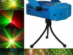 Лазерный проектор Mini Laser Stage YX-039 - цветомузыка