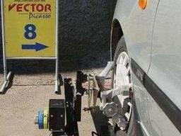 Лазерный стенд сход-развал для легковых авто Вектор-Скво-1м