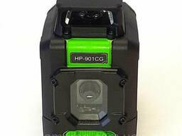 Лазерный уровень Huepar 901CG 360°. Работает до 50м, комплект: чехол, 4 батарейки тип. ..