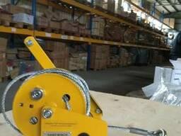 Лебедка ручная с тормозным фиксатором 800 кг