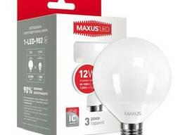 LED лампа Maxus G95 15W яркий свет 220V E27 (1-LED-904)