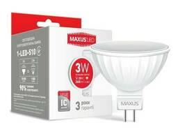 LED лампа Maxus MR16 3W яркий свет GU5. 3 AP (1-LED-510)