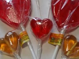 Леденцы на палочке (Сердце, губы, роза)