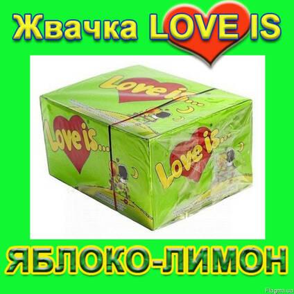Легендарная жвачка Love is клубника банан (100шт. )