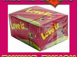 Легендарная жвачка Love is клубника банан (100шт. ) - фото 4