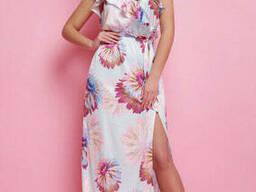 Легкое шелковое платье-сарафан в пол 42-46 , доставка по. ..
