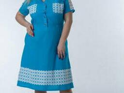 Легкое Женское платье с кружевом 46-56 , доставка по Украине