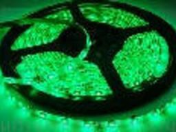 Лента Светодиодная в силиконе 5050, (60 светодиодов) 5 метров катушка Green