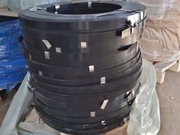 Лента упаковочная стальная черный лак 0,6х19 купить цена бухта