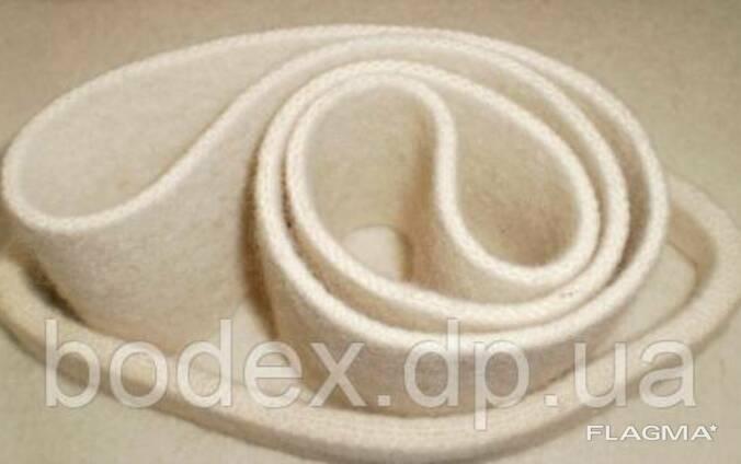Ленты фетровые бесшовные (цельнотканые рукава) из натуральной шерсти