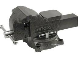 Лещата слюсарні YATO обертові з наковальнею 200 мм 29.5 кг