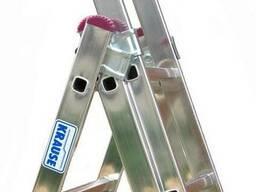 "Лестница-стремянка алюминиевая ""Krause"" 3х11 на 7,3 метра. - фото 4"