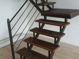 """Лестница в современном стиле """"Лофт"""" под ключ"""