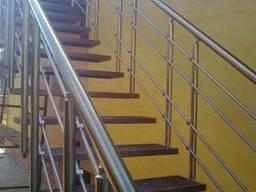 Лестничные ограждения,алюминиевые перила