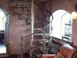 Лестницы кованые, винтовые, забежные и др.