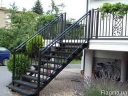 Лестницы металлические, кованные, бетонные