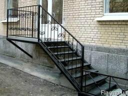 Лестницы металлические маршевые винтовые изготовление Днепр