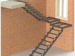 Лестницы металлические: прямые/поворотные/винтовые/хребтовые - фото 3