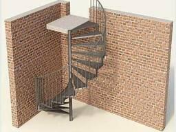 Лестницы металлические: прямые/поворотные/винтовые/хребтовые - фото 6