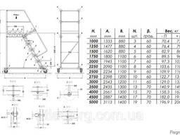 Лестницы передвижные мобильные складские H платформы 1 - 5 м - фото 3