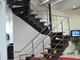 Лестницы, перила из нержавейки и черного металла