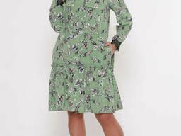 Летнее платье с воланом с 50 по 56 размер
