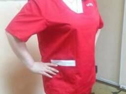 Костюм рабочий для медиков. Летний костюм для скорой помощи, сорочка и брюки для медиков