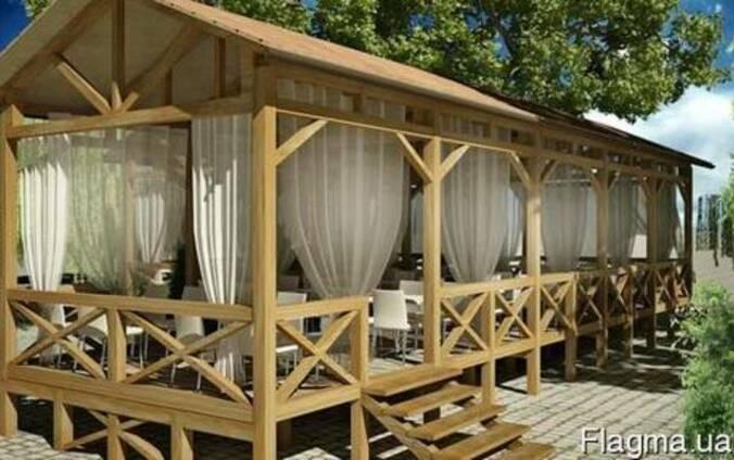 Летняя площадка для кафе бара ресторана на любой вкус стиль
