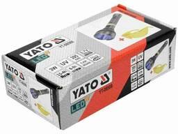 Ліхтар ультрафіолетовий з окулярами для перевірки банкнот YATO Li-Ion 3. 7 В 1. 5 Агод 3 Вт