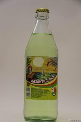 """Лимонад """"Казантипский"""" Яблочный стекло бутылка 0,5л"""