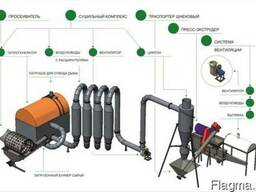Линия для производства топливных брикетов Pini Kay