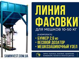 Линия фасовки в мешки 10-50 кг (фасовочный полуавтомат)