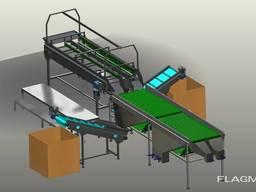 Лінія калібрування картоплі – виробнича потужність – 5 т\год