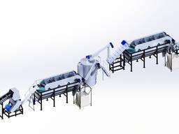Линия переработки пластика HDPE, ПНД, ПВД