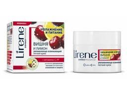 Lirene Вишня и Лимон увлажняющий и освежающий легкий крем. ..
