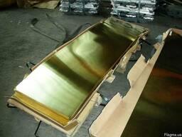 Латунный лист сплав Л63 ЛС59-1. Купить из наличия со склада!