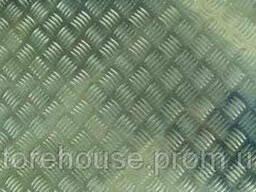 Лист алюминиевый 5 мм, рифленый, квинтет АДО, 1050, Н244
