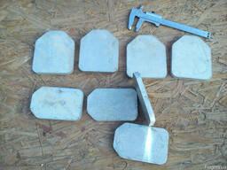 Лист алюминиевый Д16Т дюраль твердая 10 х 90 10х70мм остатки