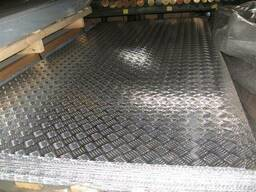 Лист алюминиевый рифленый 5,0*1250*2500 mm 5754