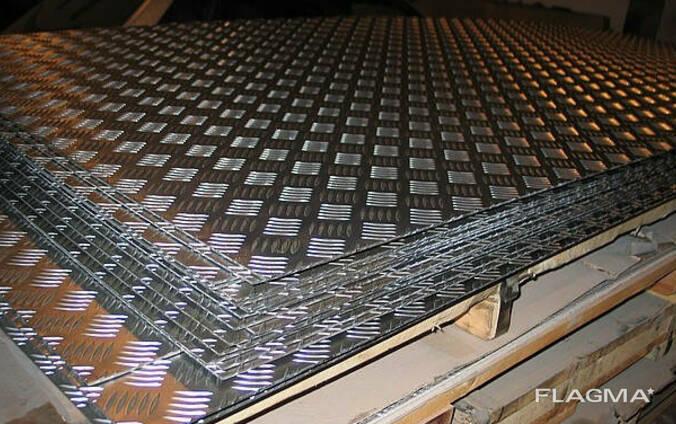 Лист алюминиевый рифленый 2,0х1500х3000 мм квинтет