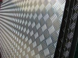 Лист алюминиевый рифленый (квинтет) 2,0*1000*2000 EN1050 Н24